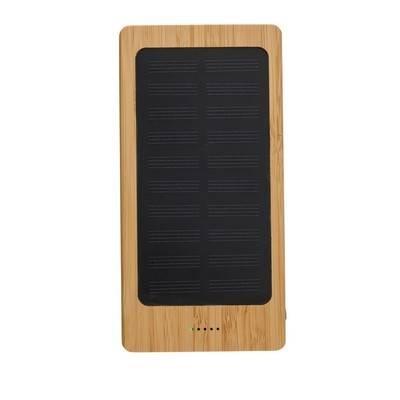 Bambusowy power bank 8000 mAh, ładowarka słoneczna