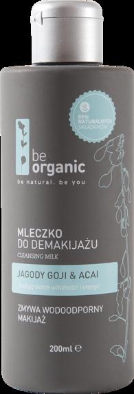 Be Organic  Mleczko do demakijażu  Jagody goji & Acai