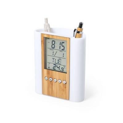 Pojemnik na przybory do pisania, zegar wielofunkcyjny